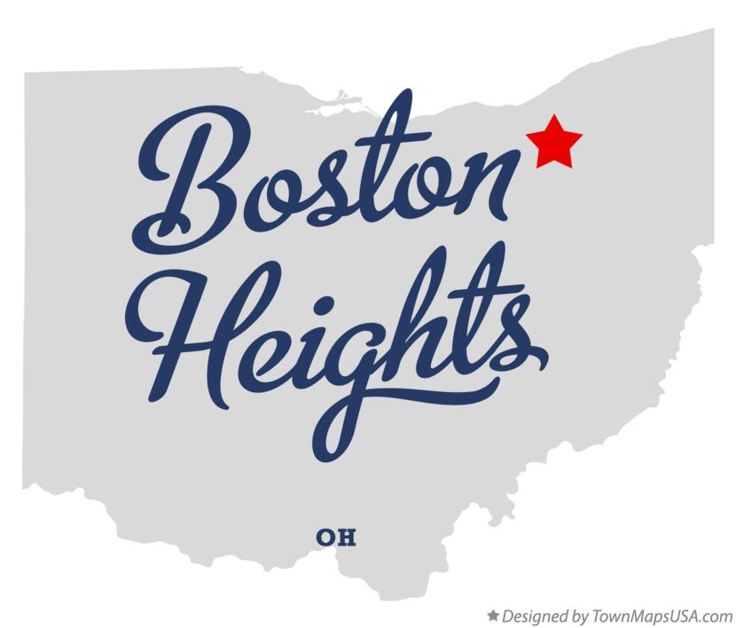Map of Boston Heights Ohio OH