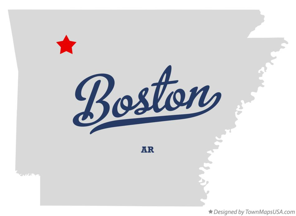 Map of Boston Arkansas AR