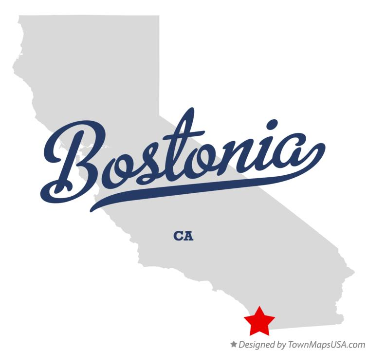 Map of Bostonia California CA