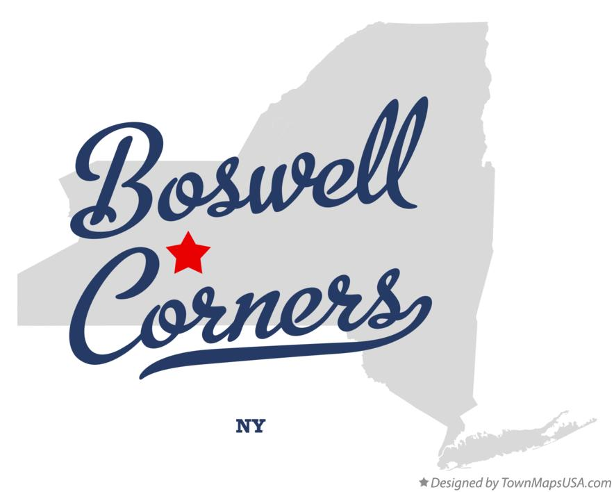 Map of Boswell Corners New York NY