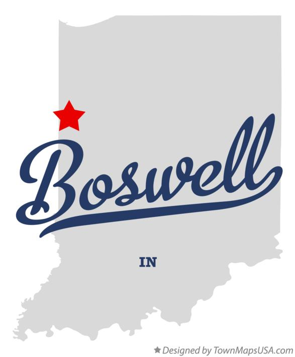 Map of Boswell Indiana IN