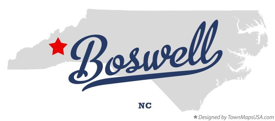 Map of Boswell North Carolina NC