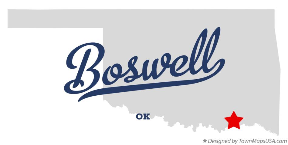 Map of Boswell Oklahoma OK