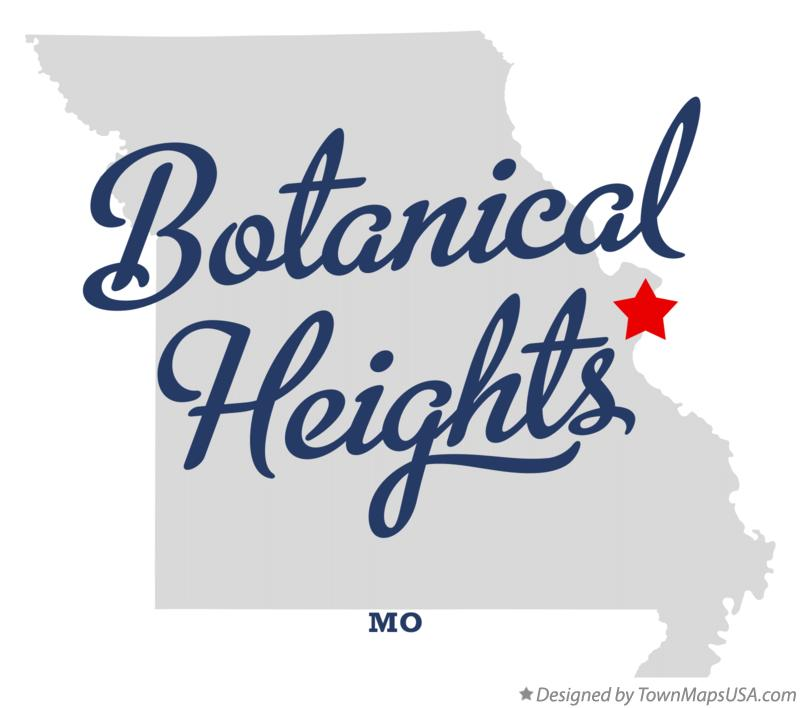 Map of Botanical Heights Missouri MO