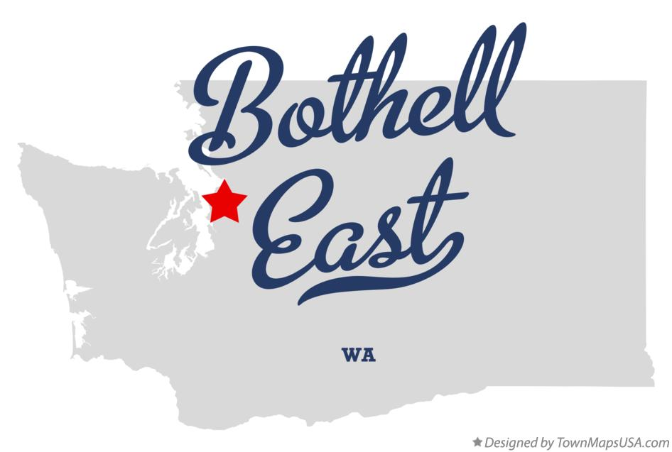 Map of Bothell East Washington WA