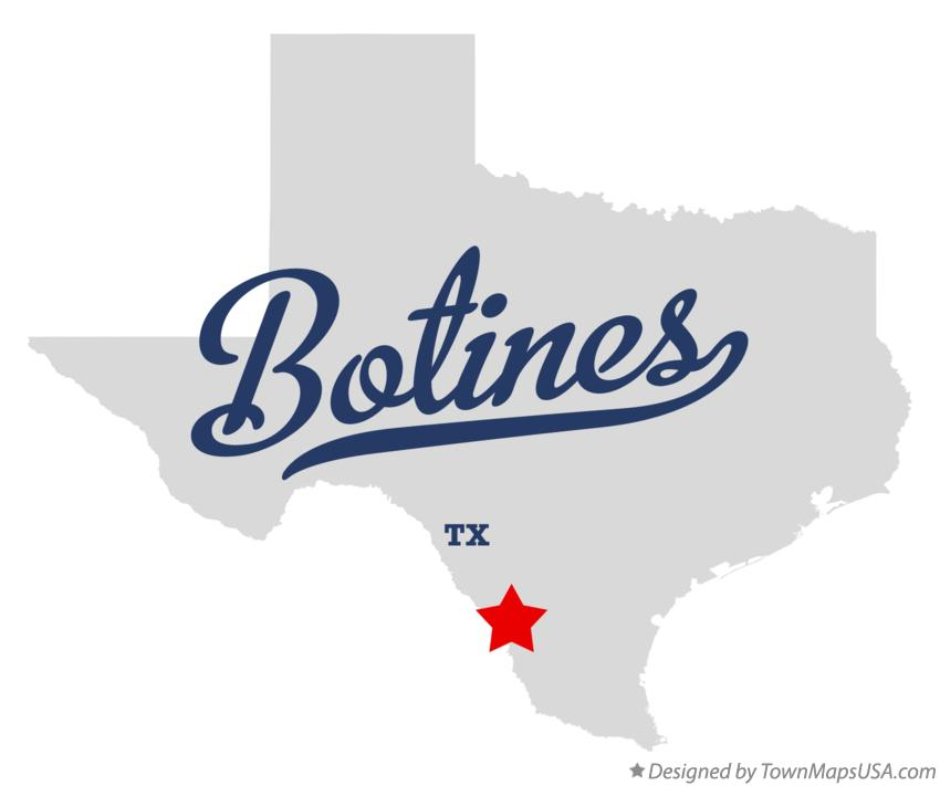 Map of Botines Texas TX