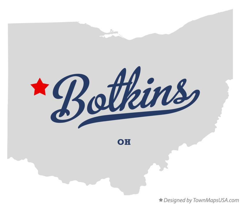 Map of Botkins Ohio OH