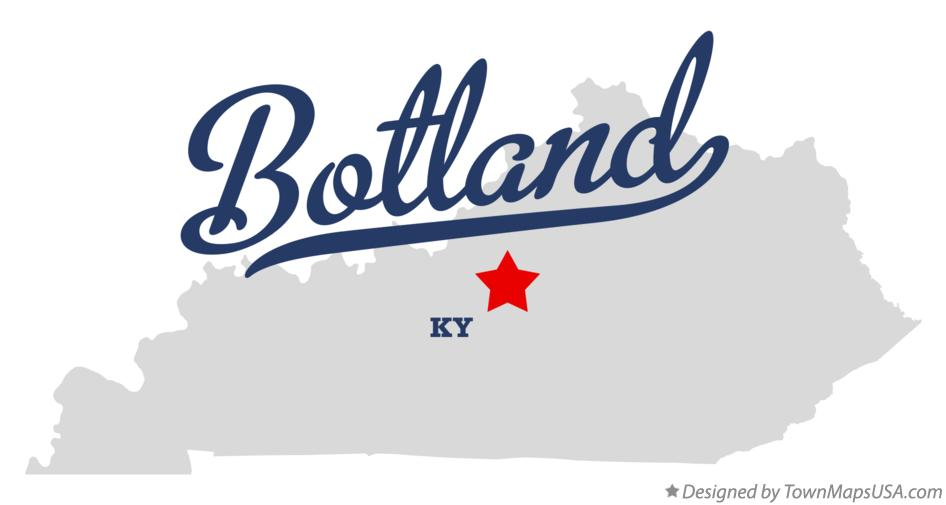 Map of Botland Kentucky KY