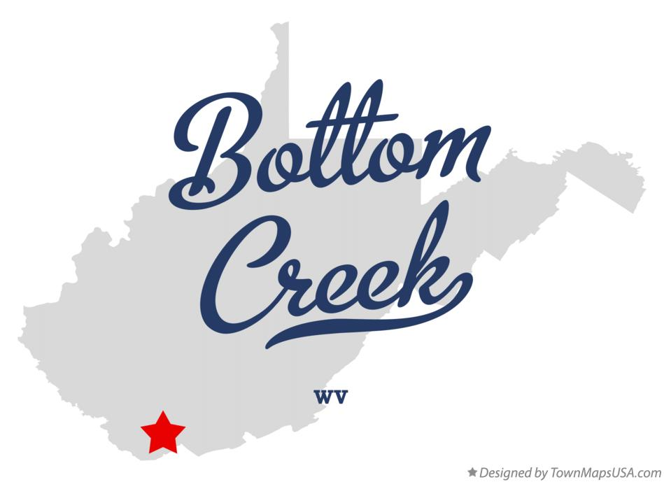 Map of Bottom Creek West Virginia WV