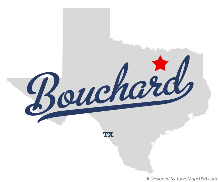 Map of Bouchard Texas TX