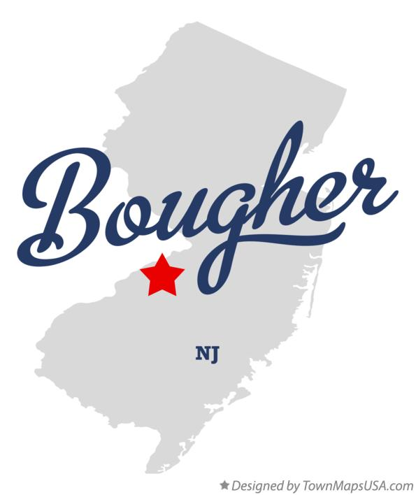 Map of Bougher New Jersey NJ