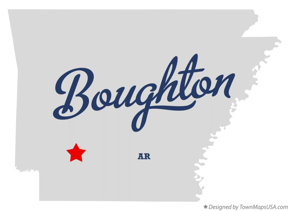 Map of Boughton Arkansas AR