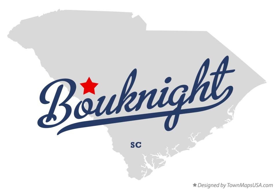 Map of Bouknight South Carolina SC