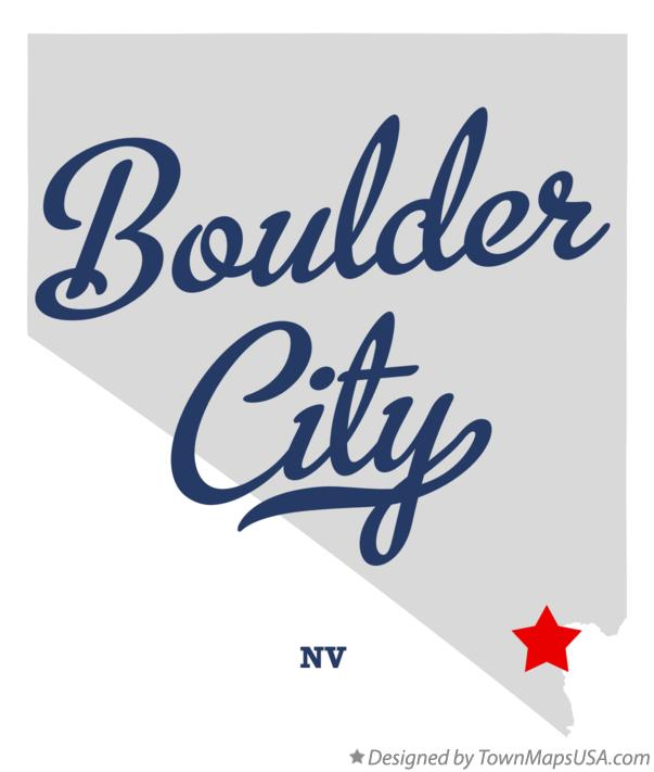Map of Boulder City Nevada NV