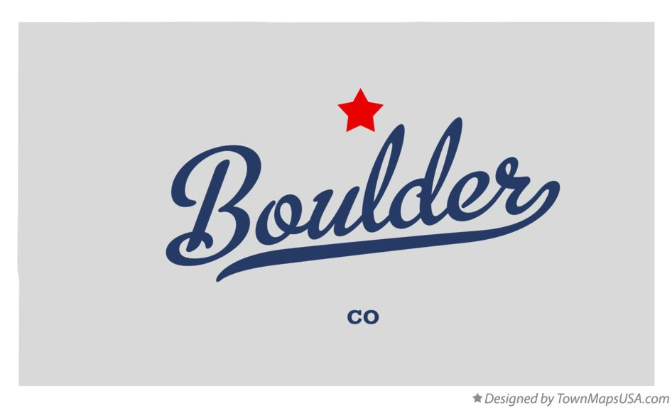 Map of Boulder Colorado CO