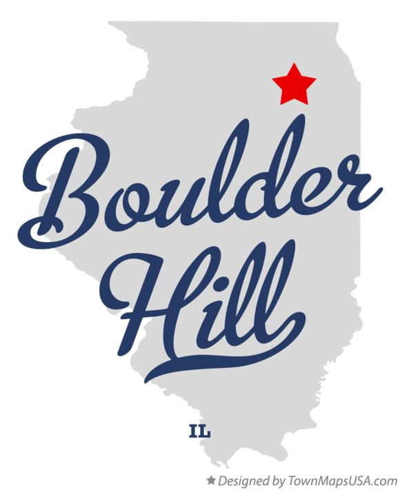 Map of Boulder Hill Illinois IL