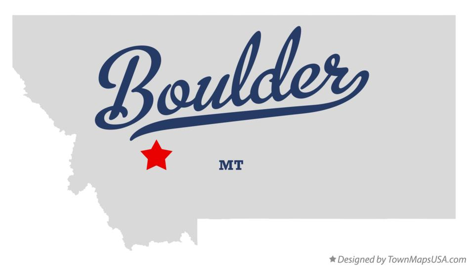 Map of Boulder Montana MT