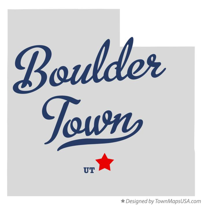 Map of Boulder Town Utah UT