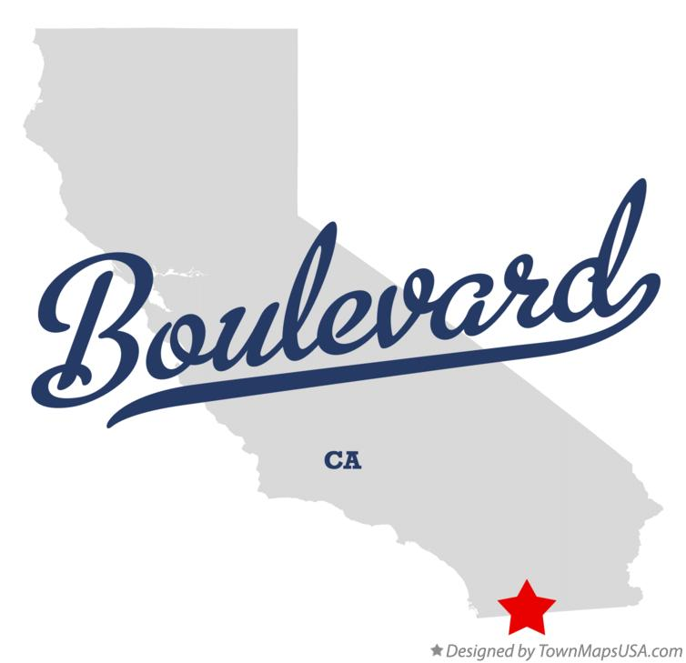 Map of Boulevard California CA