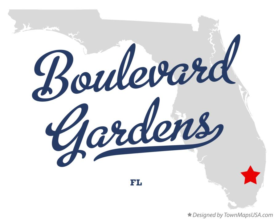 Map of Boulevard Gardens Florida FL