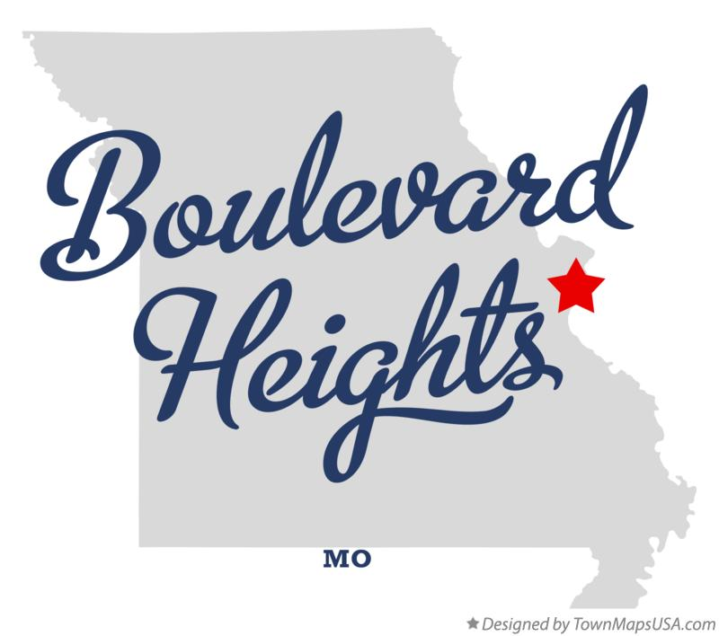 Map of Boulevard Heights Missouri MO