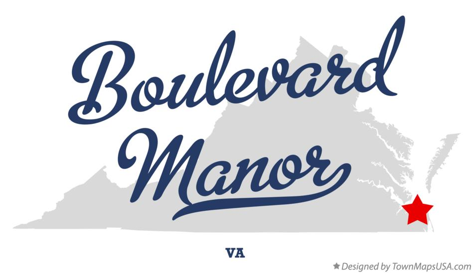 Map of Boulevard Manor Virginia VA