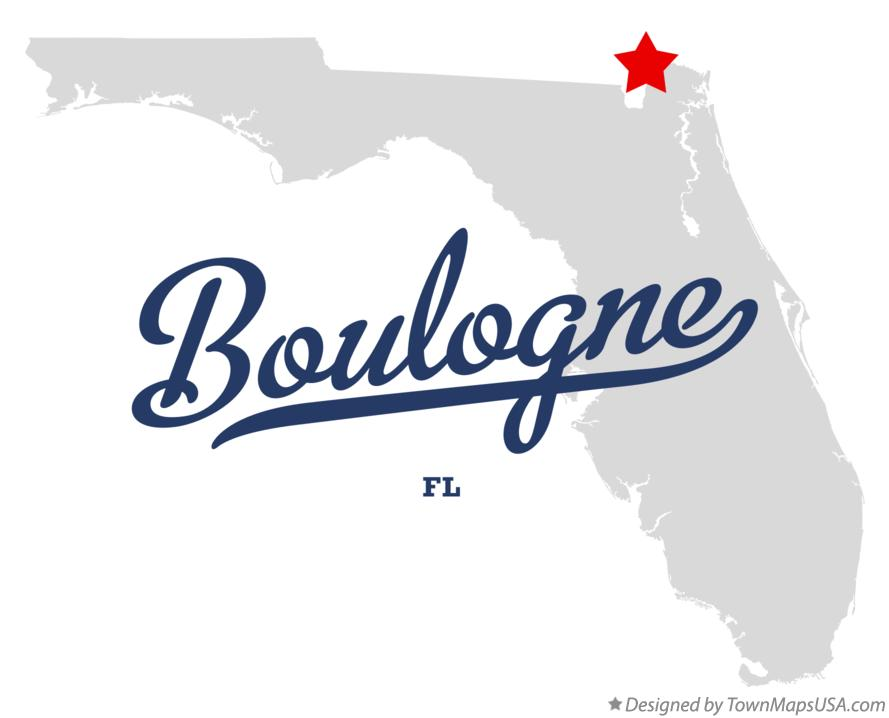 Map of Boulogne Florida FL