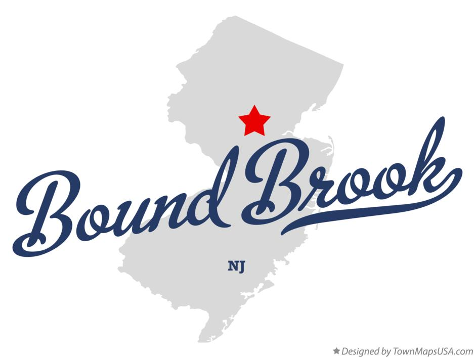 Map of Bound Brook New Jersey NJ