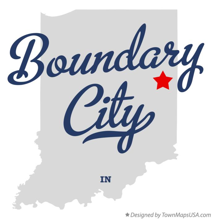 Map of Boundary City Indiana IN