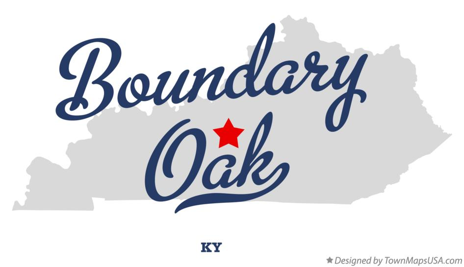 Map of Boundary Oak Kentucky KY