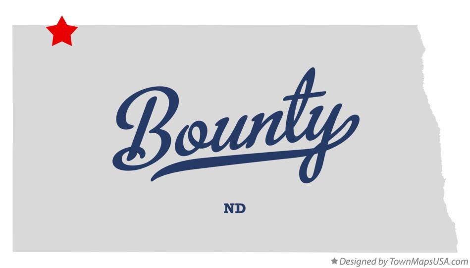 Map of Bounty North Dakota ND