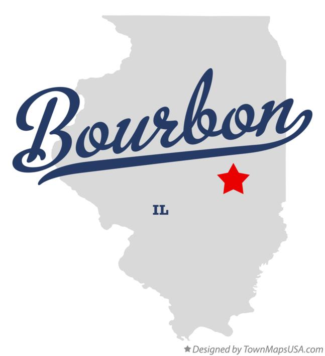 Map of Bourbon Illinois IL