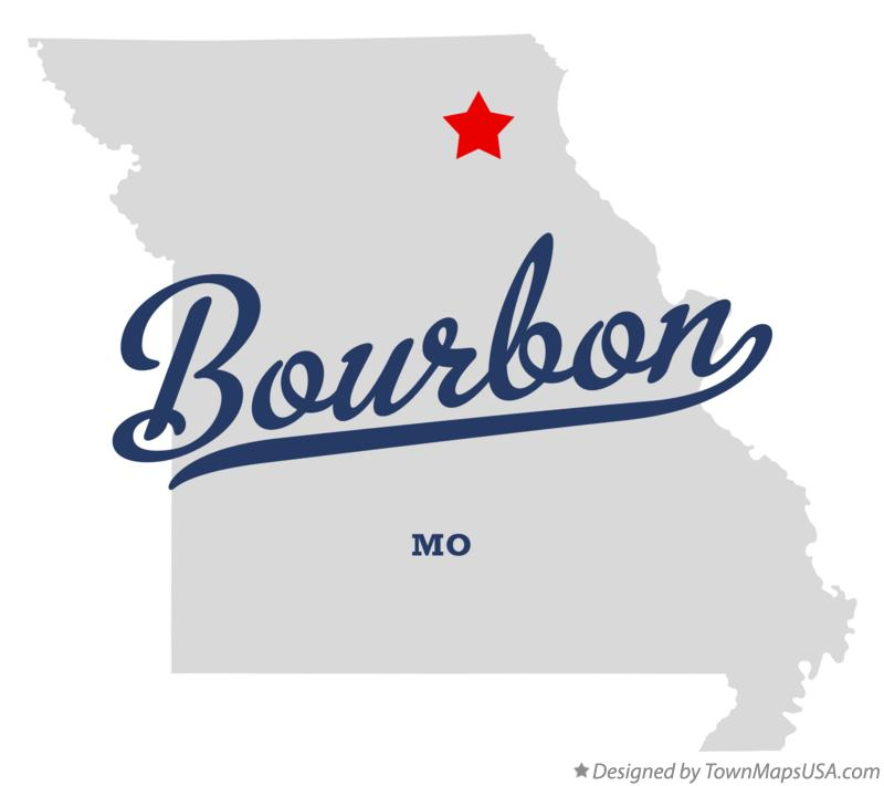 Map of Bourbon Missouri MO
