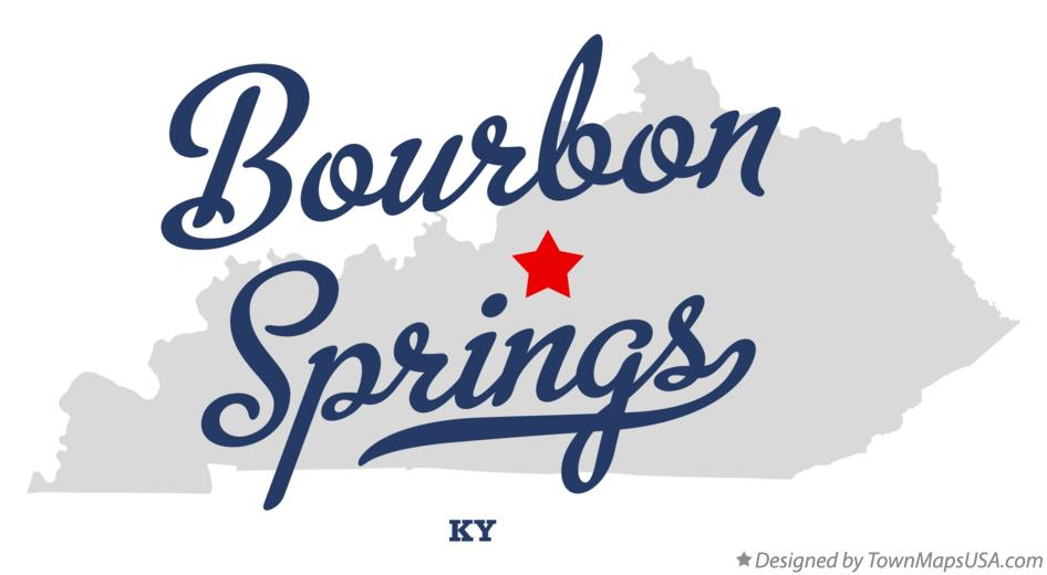 Map of Bourbon Springs Kentucky KY