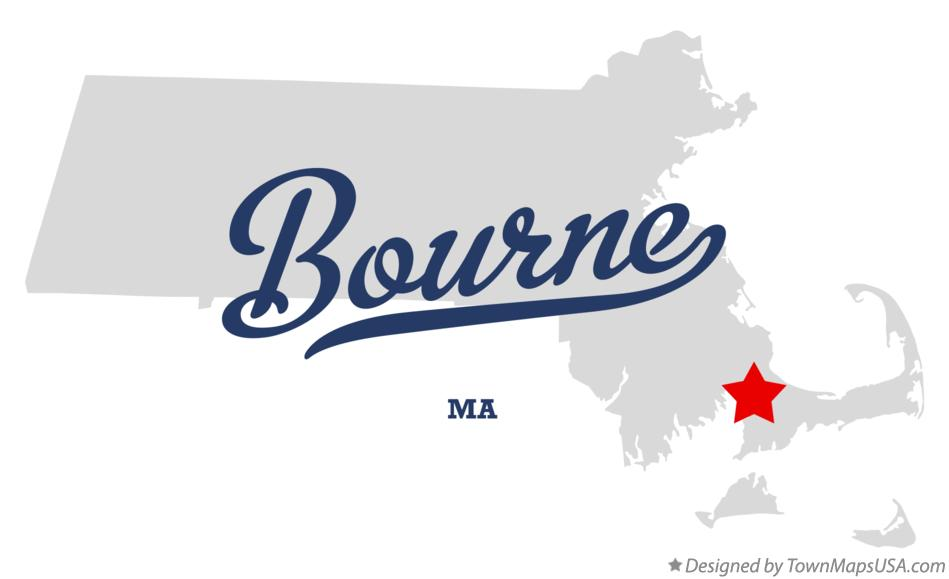 Map of Bourne Massachusetts MA