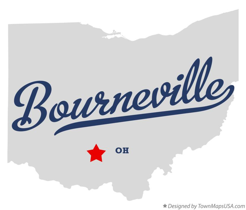 Map of Bourneville Ohio OH