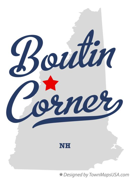 Map of Boutin Corner New Hampshire NH