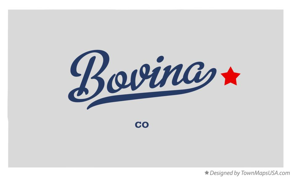 Map of Bovina Colorado CO
