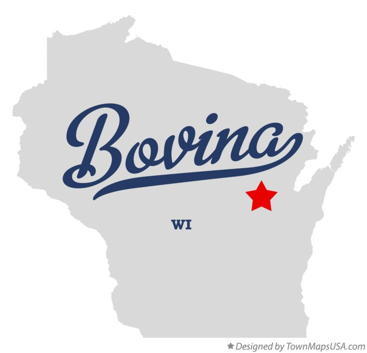 Map of Bovina Wisconsin WI