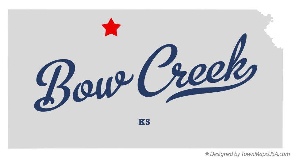Map of Bow Creek Kansas KS