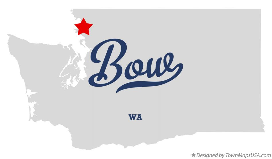 Map of Bow Washington WA