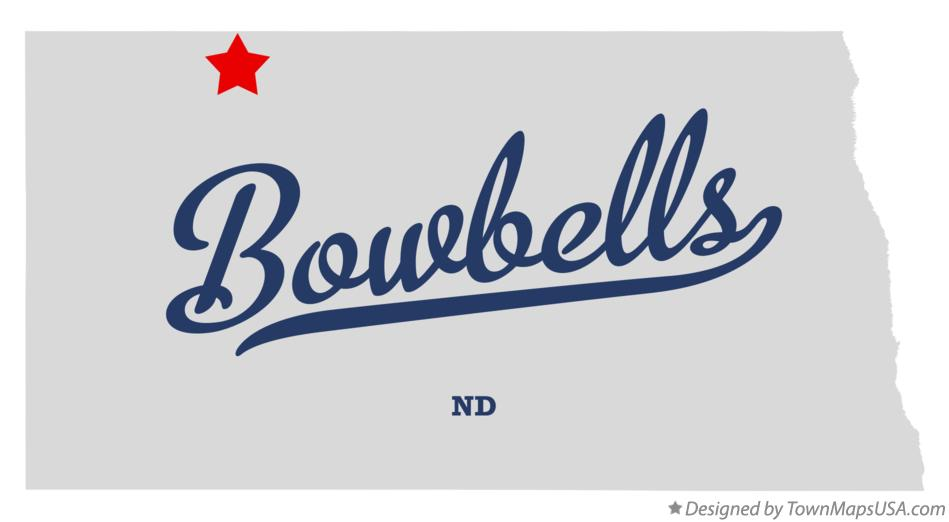 Map of Bowbells North Dakota ND