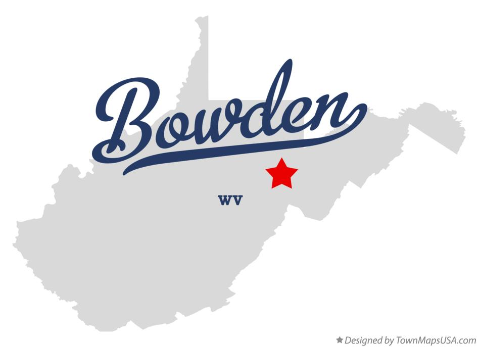 Map of Bowden West Virginia WV
