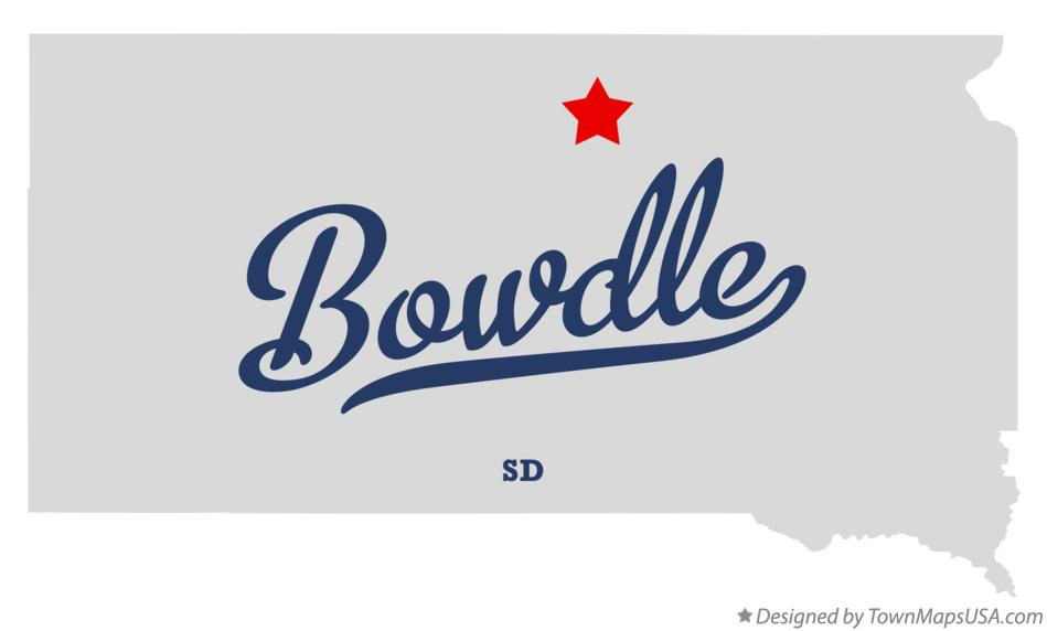 Map of Bowdle South Dakota SD
