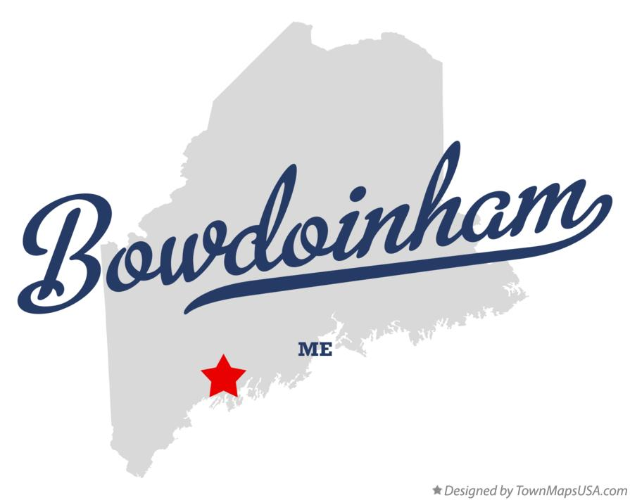 Map of Bowdoinham Maine ME