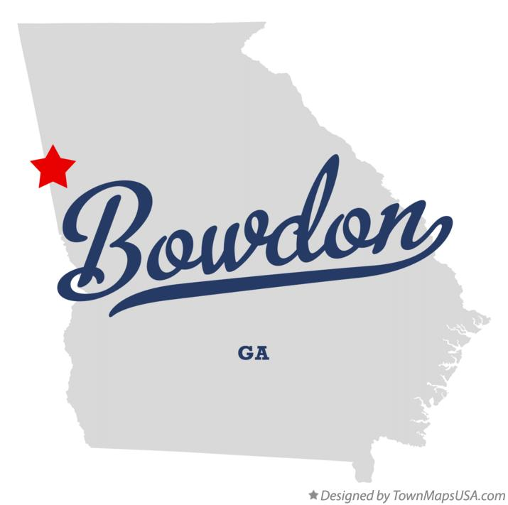 Map of Bowdon Georgia GA