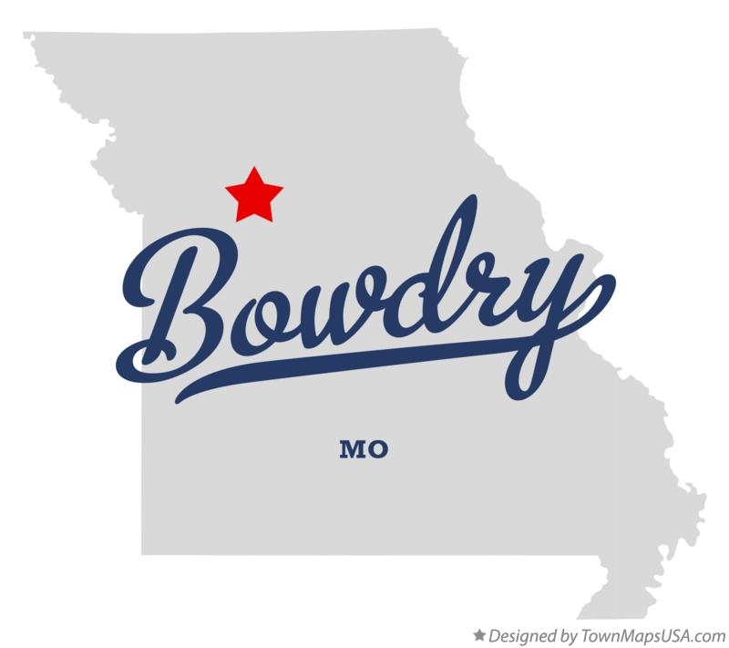 Map of Bowdry Missouri MO