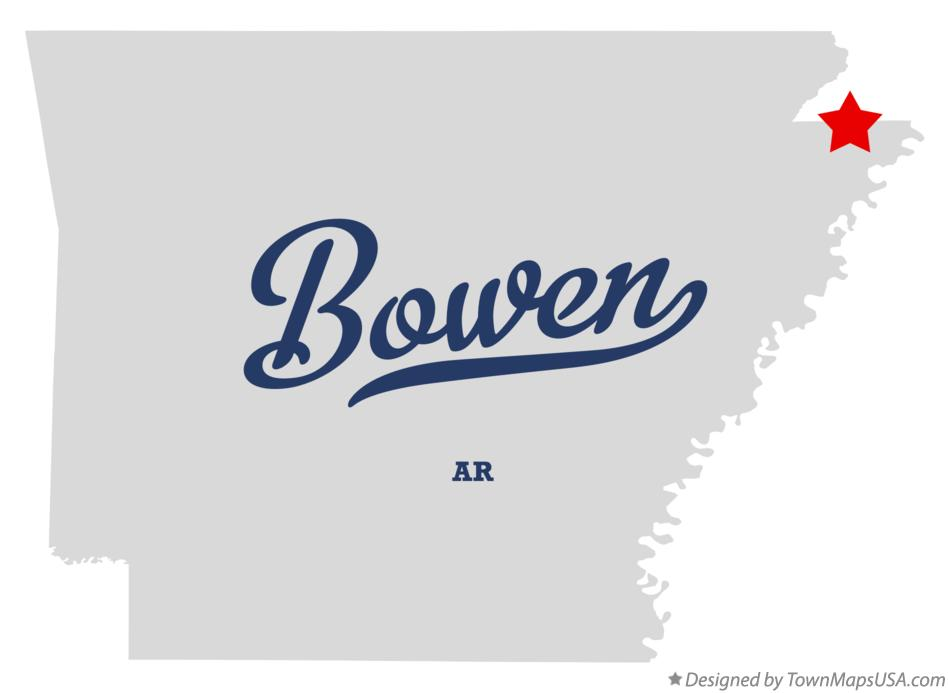 Map of Bowen Arkansas AR