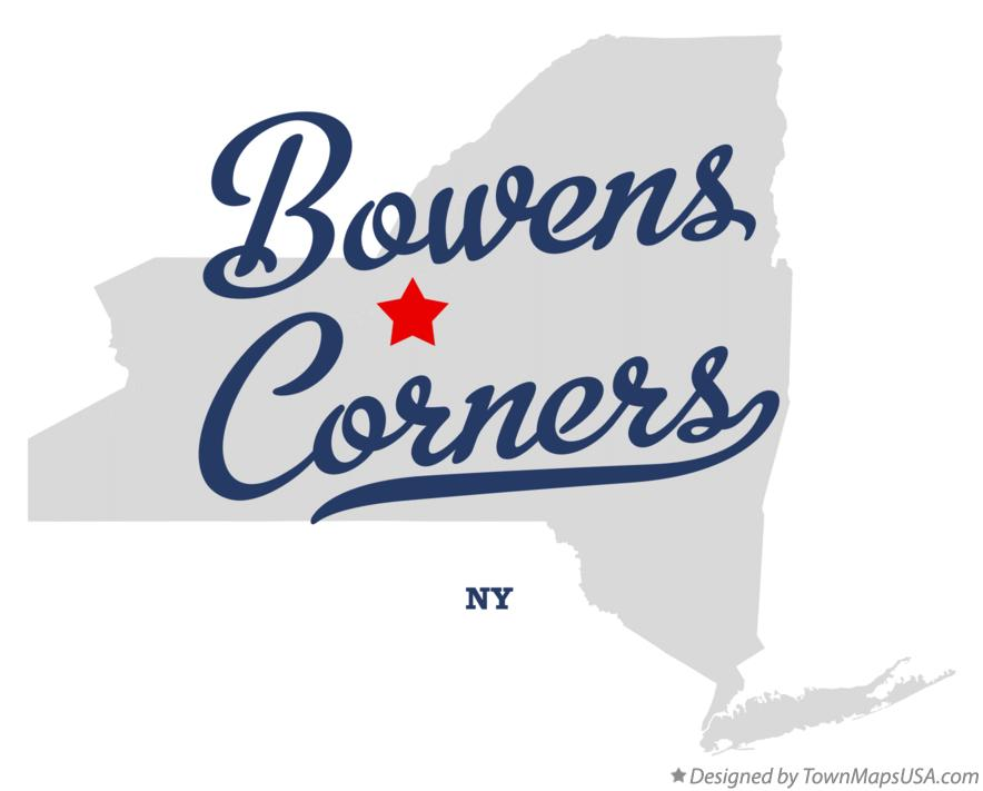 Map of Bowens Corners New York NY