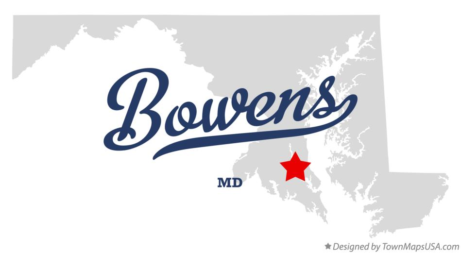 Map of Bowens Maryland MD